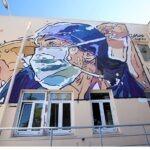 Με ένα mural στην πρόσοψη του ΑΧΕΠΑ το «ευχαριστώ» σε γιατρούς και νοσηλευτές