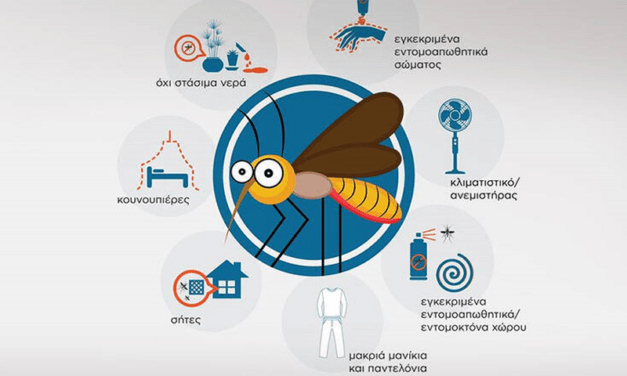 Κουνούπια: Πως θα τα αποφύγετε. Οι οδηγίες του ΕΟΔΥ.